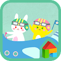 Happy rainbow flight dodol icon