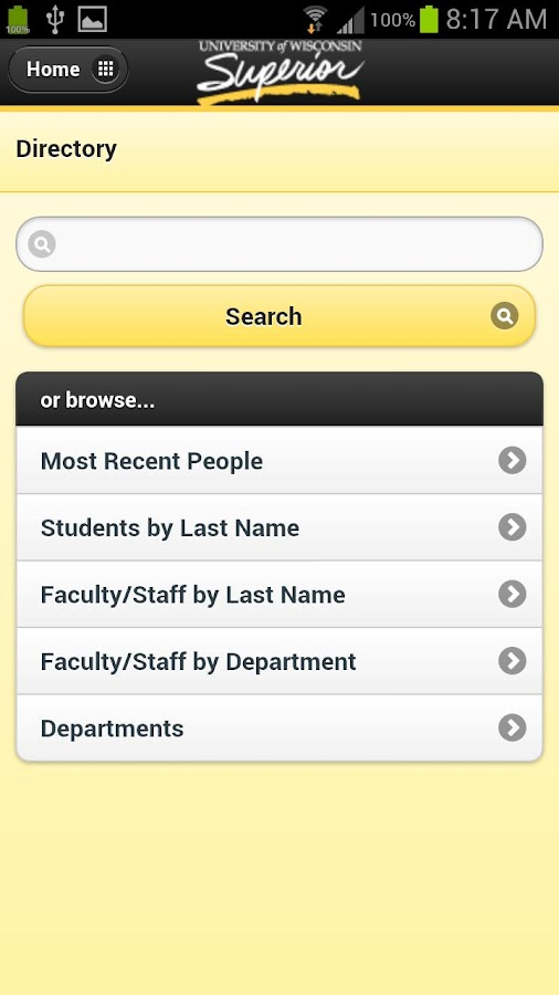 UW-Superior - screenshot