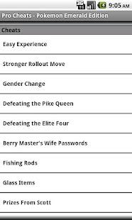 Pro Cheats Pokemon Emerald Edn- screenshot thumbnail