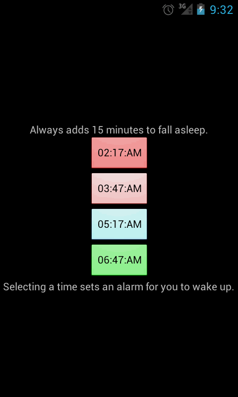 Sleep Cycles- screenshot
