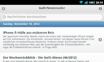 Screenshot of Gulli:Newsreader (Gulli:Board)