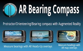 Screenshot of AR Bearing + Baseplate Compass