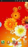Screenshot of Flowers live wallpaper