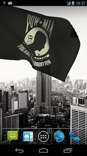 POW/MIA Flag Live Wallpaper - screenshot thumbnail