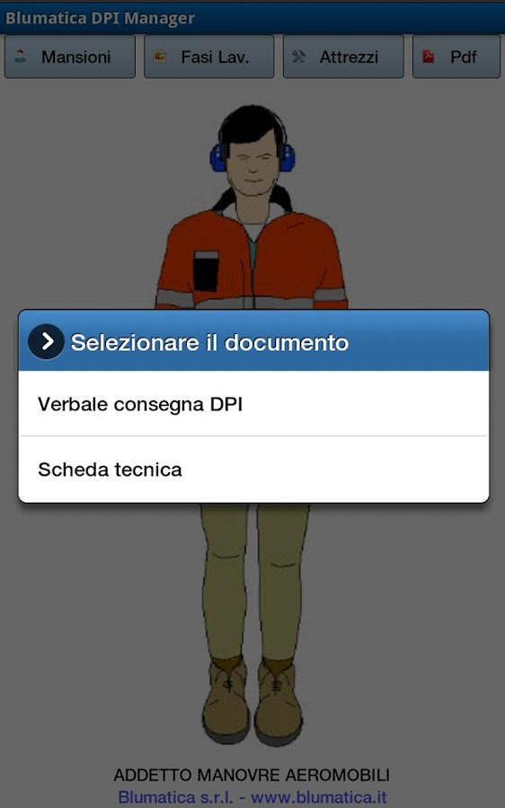 Blumatica DPI Manager- screenshot