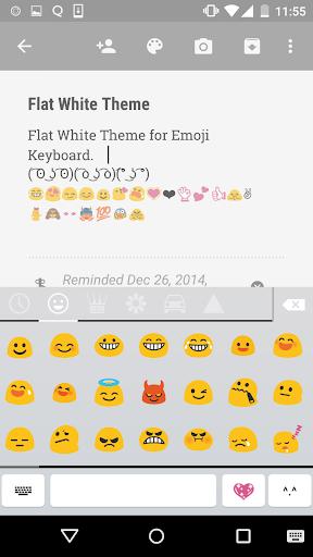 Flat White Emoji Keyboard Skin