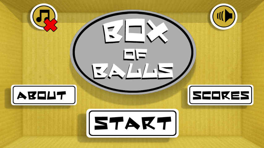 Box of balls - screenshot