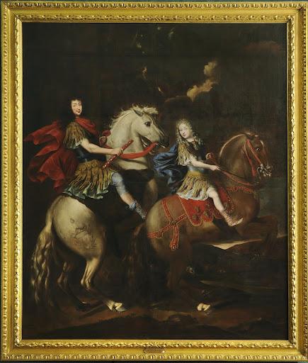 Equestrian portrait of Charles Emmanuel II, Duke of Savoy, with his son Victor Amadeus II