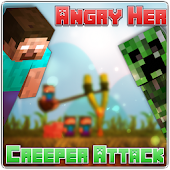 Angry Herobrine Creeper Attack
