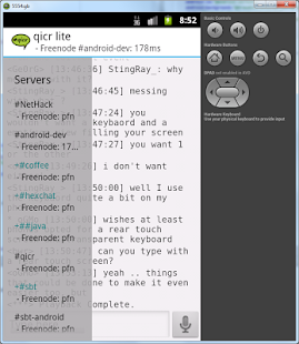 qicr lite IRC client beta - screenshot thumbnail