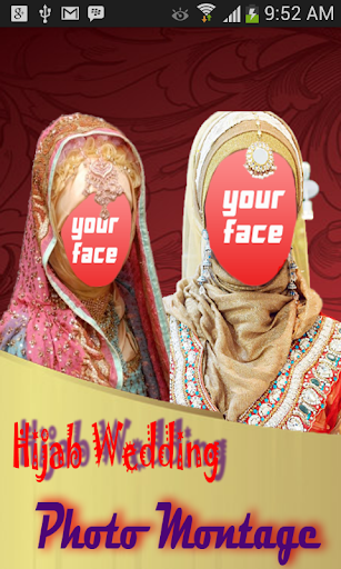 Hijab Wedding Photo Montage