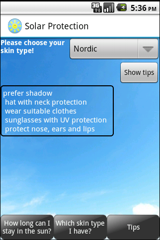 Solar Protection Free- screenshot