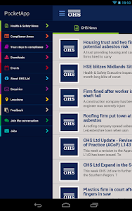 OHS Health & Safety PocketApp screenshot 1