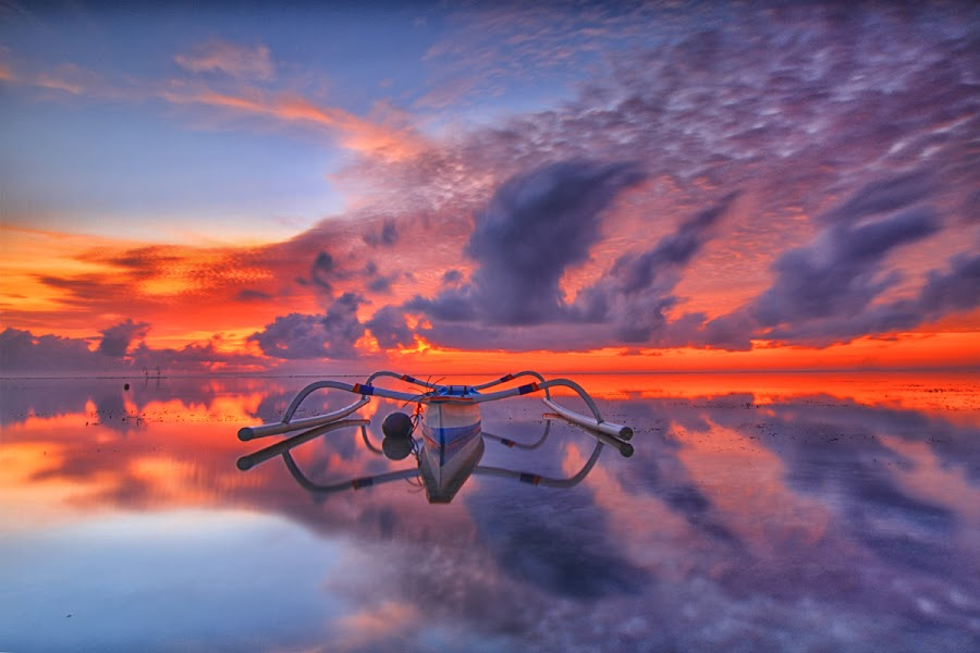 the new day by I Made  Sukarnawan - Landscapes Sunsets & Sunrises ( clouds, sunset, sunrise, morning, sun )
