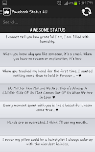 Facebook Status & Quotes 4U - screenshot thumbnail