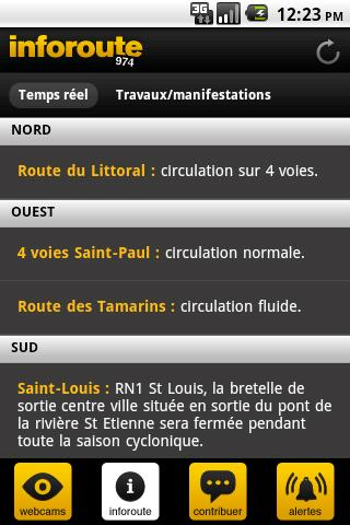 Inforoute 974- screenshot