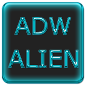 ADW Alien Abstract Aqua Theme