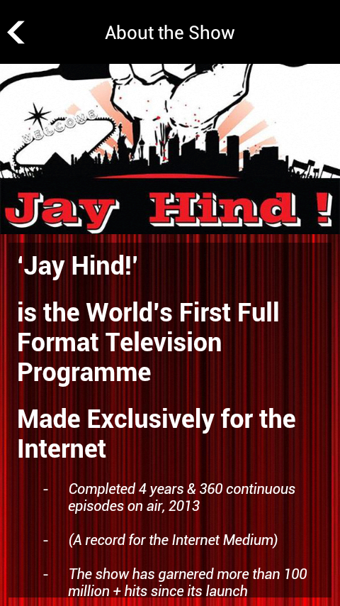 Jay Hind TV- screenshot