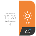 Amber daily weather report icon