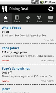 Dining Deals - Food Coupons - screenshot thumbnail