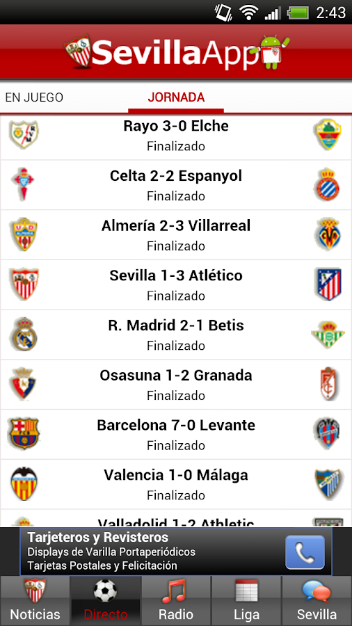 Sevilla App Lite - screenshot