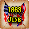 1863 June Am Civil War Gazette icon