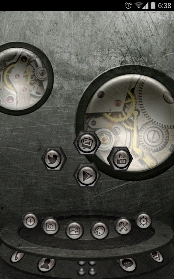 Next Launcher Theme SteampunkW - screenshot