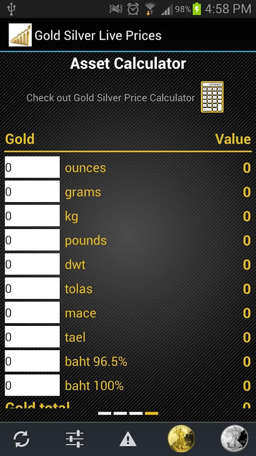 Gold Silver Live Prices- screenshot