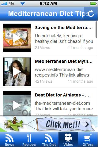 Mediterrean Diet Tips.- screenshot