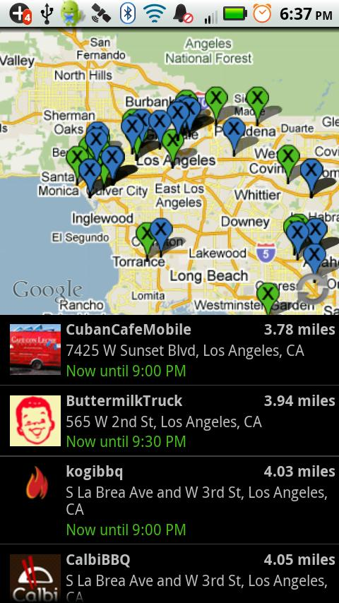 Live Food Trucks Map - TruxMap - screenshot