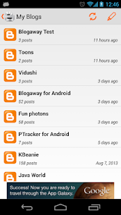 Blogaway for Android (Blogger) - screenshot thumbnail