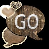 GO SMS THEME/BrownHearts