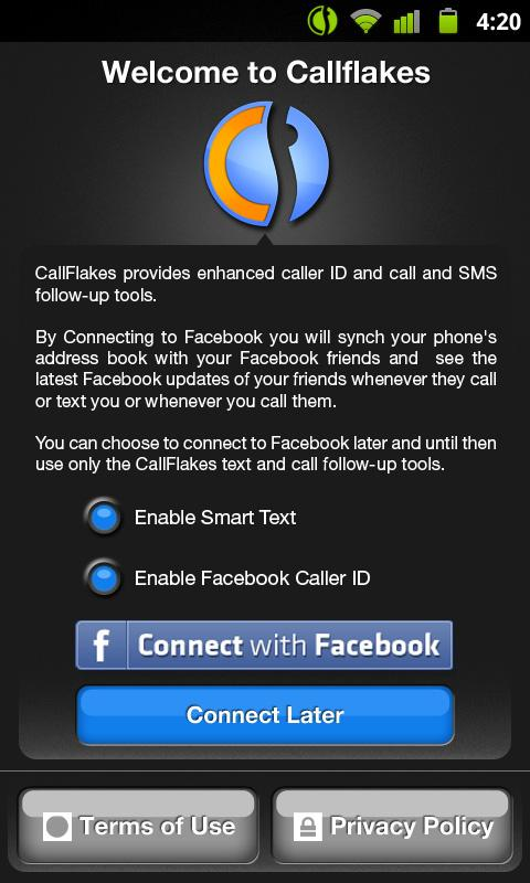 CallFlakes- screenshot