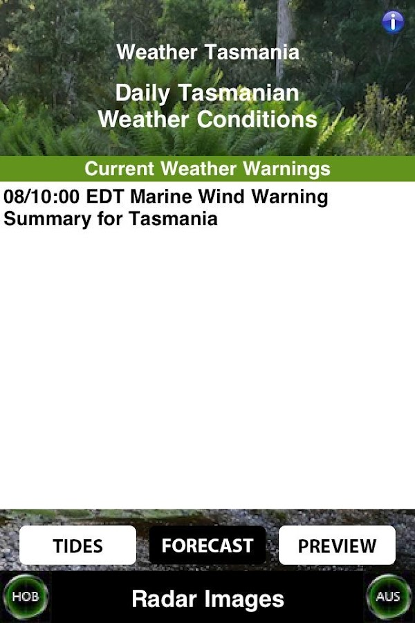 Weather Tasmania - screenshot