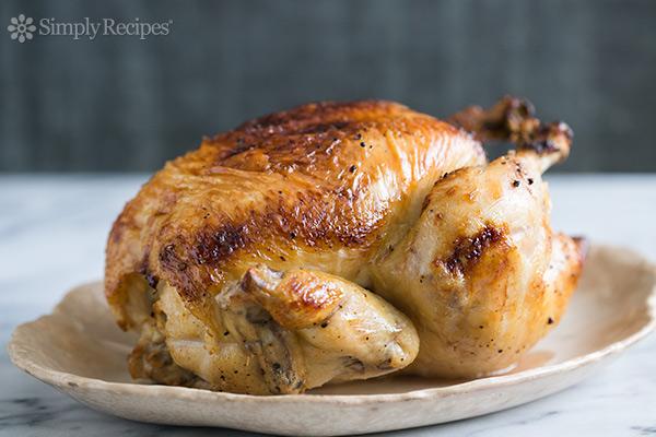 Honey Glazed Lemon Roast Chicken Recipe