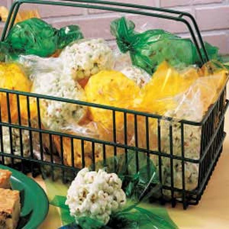 Colorful Popcorn Balls Recipe