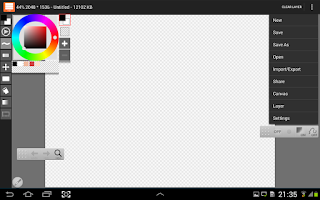 Screenshot of LayerPaint HD
