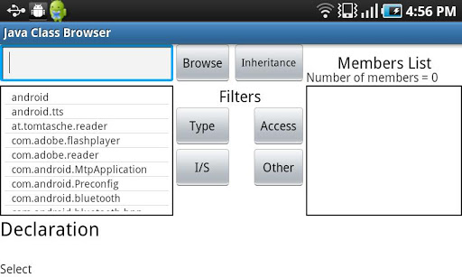 Java Class Browser