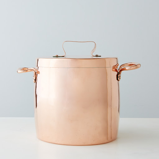 Vintage Copper English Stock Pot, Early 19th Century