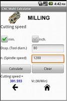 Screenshot of Cnc Multi Calculator