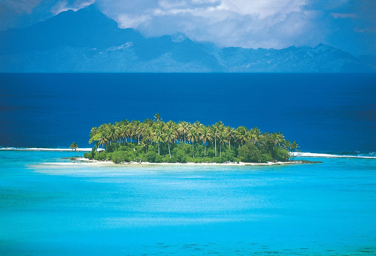 """A view of the Raiatea Isle, known as """"the sacred isle,"""" in French Polynesia aboard the Paul Gauguin."""