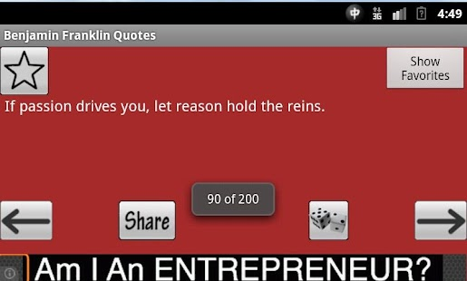 Benjamin Franklin Quotes - screenshot thumbnail