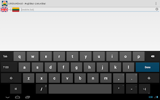 Screenshot of Lith Dict 4 Droid