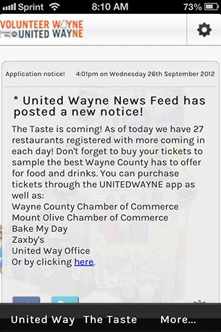 United Wayne