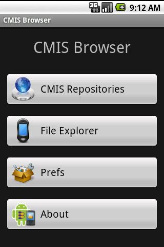 CMIS Browser- screenshot