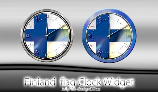 フィンランド国旗の時計ウィジェット