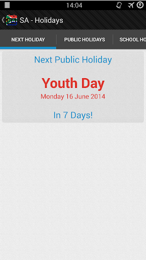 SA - Holidays Public+School
