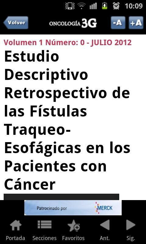 Oncologia3G: captura de pantalla