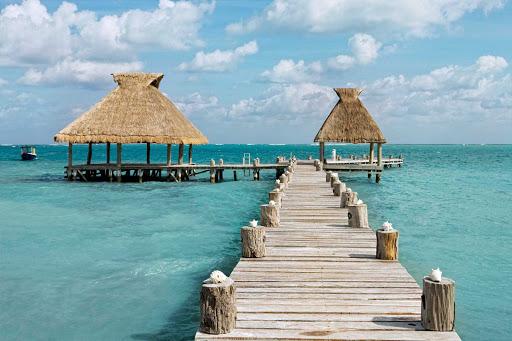Riviera-Maya-Zoetry-dock - The dock at Zoëtry Paraiso de la Bonita in Riviera Maya in the Yucatan of Mexico.