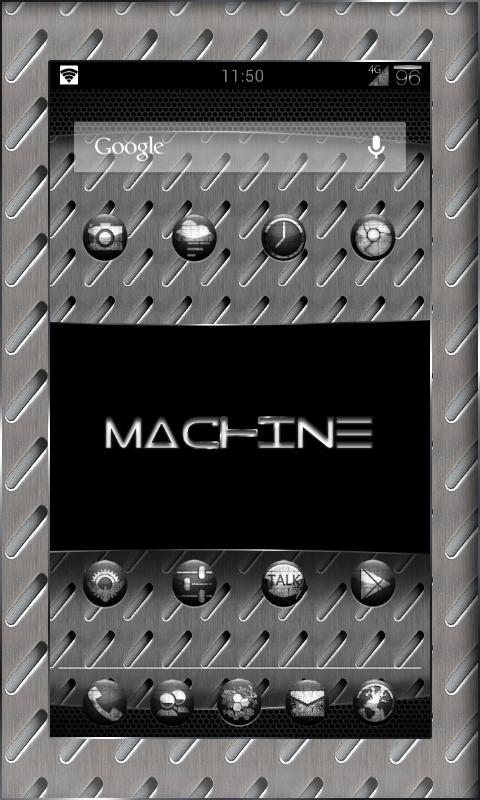 MACHINE BLACK THEME CHOOSER - screenshot